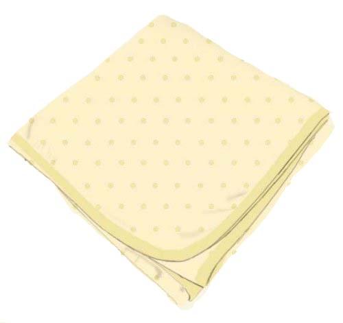 Cream Pindot Receiving Blanket