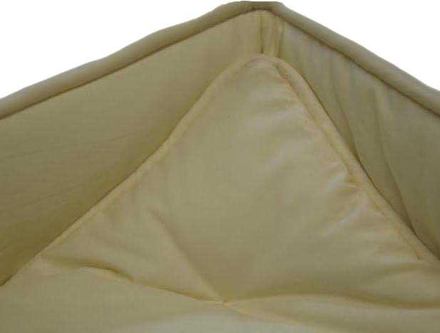 Solid Ivory Portable / Mini Crib Set