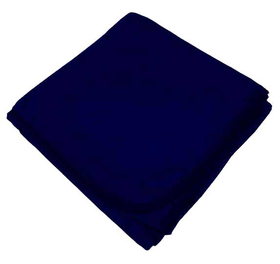 Solid Navy Receiving Blanket