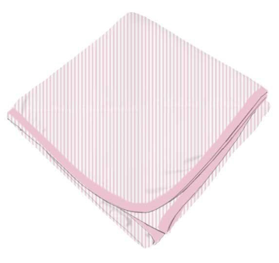 Pink Pinstripe Receiving Blanket