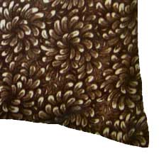 Percale Pillow Case - Brown Floral