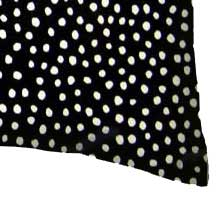 Percale Pillow Case - Black Fun Dots