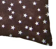 Percale Pillow Cases - Cloudy Stars Brown