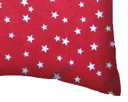 Percale Pillow Cases - Cloudy Stars Red