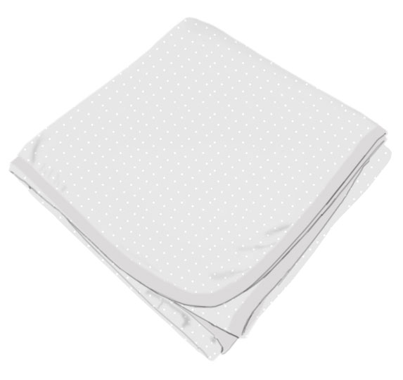 White Swiss Pindot Receiving Blanket