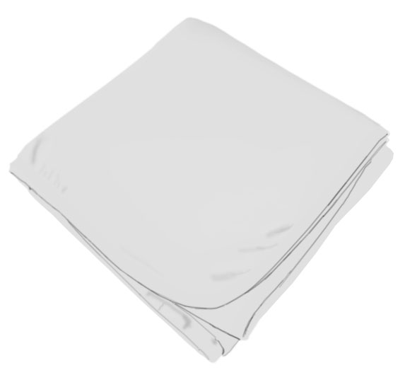 Solid White Receiving Blanket