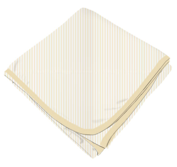 Yellow Pinstripe Receiving Blanket