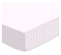 Pale Pink Gingham 28 x 52