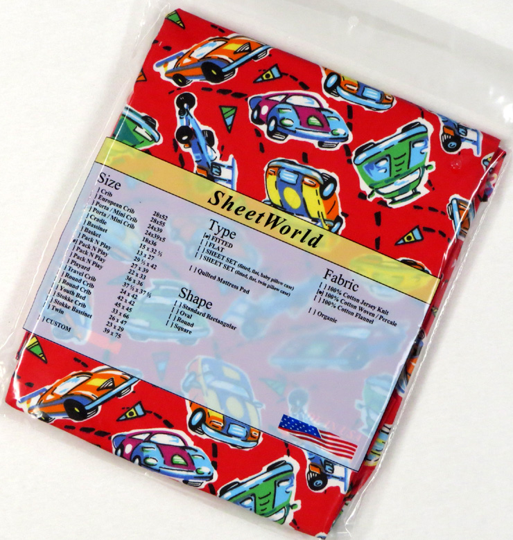 Race Cars Red - Cotton Fitted Pack N Play Sheet - Fits Graco - 27 x 39