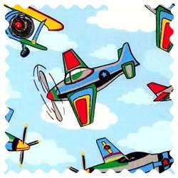 Kiddie Airplanes Fabric