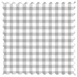 Grey Gingham Jersey Knit Fabric