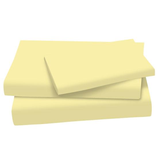 Soft Yellow Cotton Jersey Knit Twin