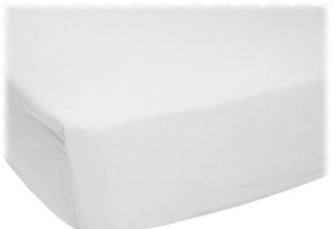 Fabric Shop - ORGANIC White Jersey Knit CRADLE Sheet Fabric - Yard - 100% Cotton Jersey Knit - Organic Fabric Shop