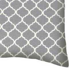 Percale Pillow Case - Grey Quatrefoil