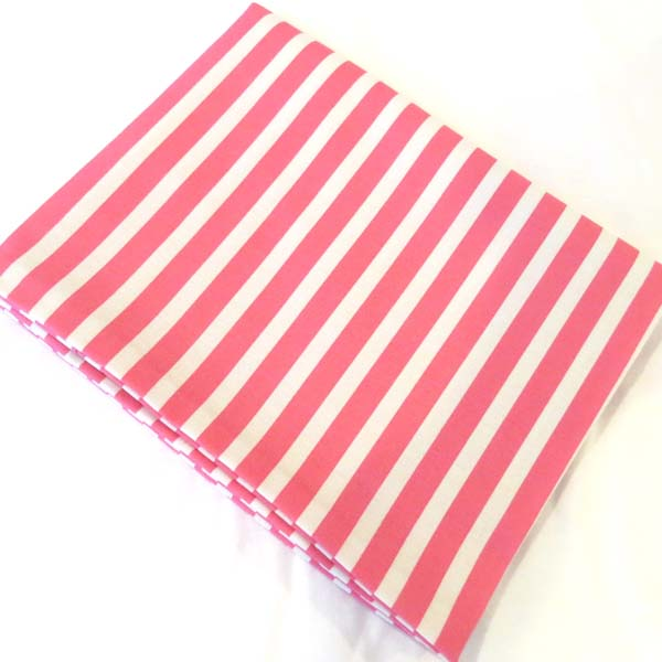 Pink Stripe Cotton Baby Pillow Case