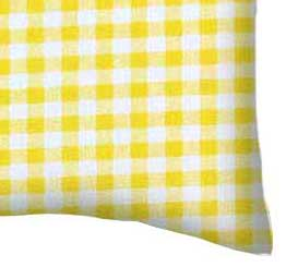 Percale Pillow Case - Yellow Gingham Check