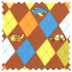 Argyle Transport Brown Fabric