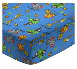 Portable / Mini Crib - Jungle Adventure - Matching Bumper - 100% Cotton Flannel - Baby Animal Prints Portable / Mini Crib Sheets