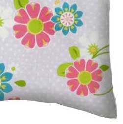 Percale Pillow Case - Lavender Daisy Dot