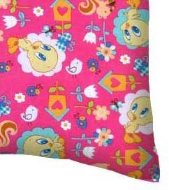 Percale Pillow Case - Tweety Bird Hot Pink