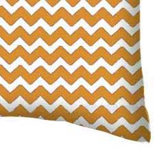 Percale Pillow Case - Gold Chevron Zigzag