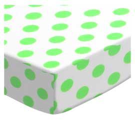 Neon Green Polka Dots