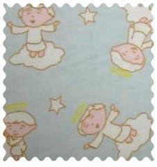 Fabric Shop - Angels Blue Fabric - Yard - 100% Cotton Flannel - Flannel Fabric Shop