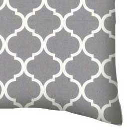 Percale Pillow Case - Grey Large Quatrefoil