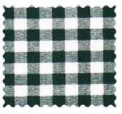 Hunter Green Gingham Check Fabric