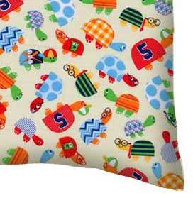 Percale Pillow Case - Turtle Fun Yellow