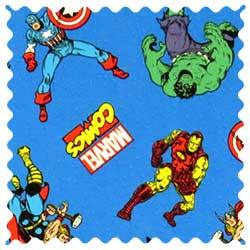 Marvel Comics Blue Fabric