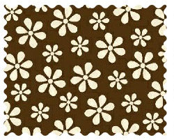 Fabric Shop - Cream Floral Brown Woven Fabric - Yard - 100% Cotton Woven - Primary Polka Dots Fabric Shop