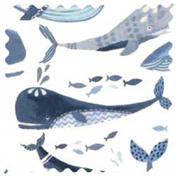 Blue Whales Fabric