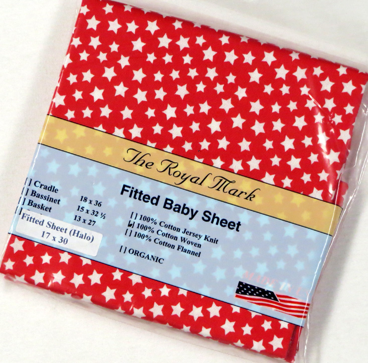 Stars Red Cotton Bassinest Sheet - Fits Halo