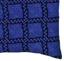 Percale Pillow Sham - Navy & Royal Wavy Check