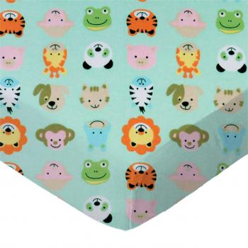 Animal Faces Aqua