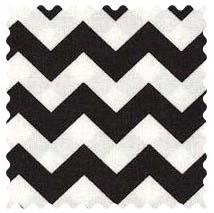 Black Chevron Zigzag Fabric