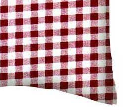 Percale Pillow Case - Burgundy Gingham Check