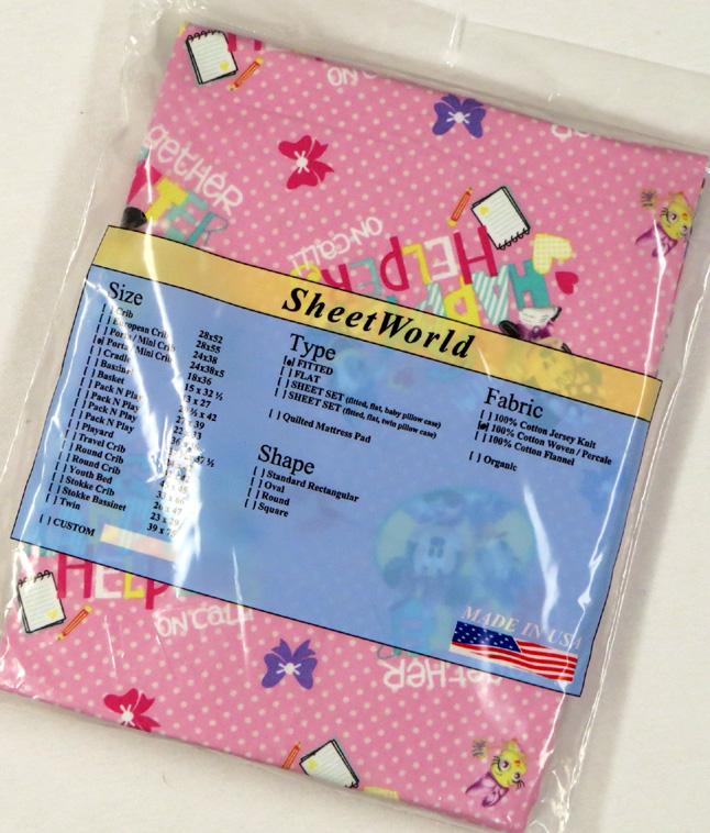 Minnie Mouse Extra Deep Cotton Portable / Mini Crib Sheet - 24 x 38 x 5.5