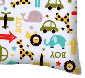 Percale Pillow Case - Cars & Animals