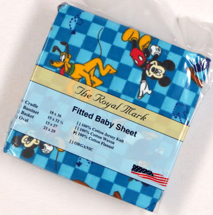 Mickey & Friends Cotton Flannel Cradle Sheet 18x36