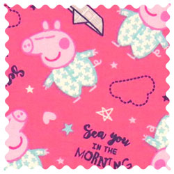 Peppa Pig Morning Fabric