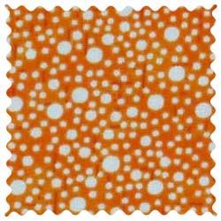 Confetti Dots Orange Fabric