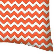 Percale Pillow Case - Orange Chevron Zigzag