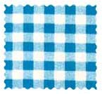 Turquoise Gingham Check Fabric