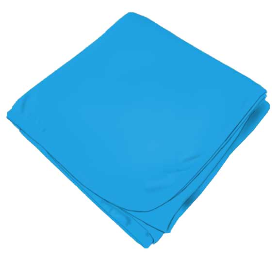 Solid Turquoise Receiving Blanket