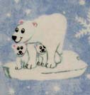 100% Cotton Flannel - Baby Animal Prints Basket Sheets