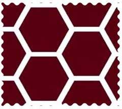 Burgundy  Honeycomb Fabric