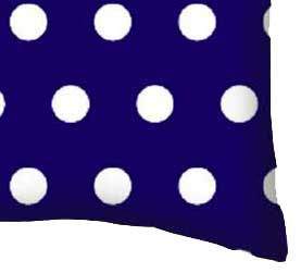 Percale Pillow Case - Polka Dots Royal