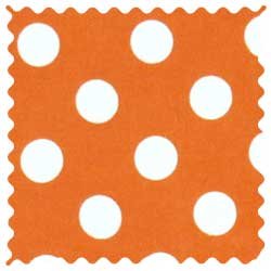 Polka Dots Orange Fabric